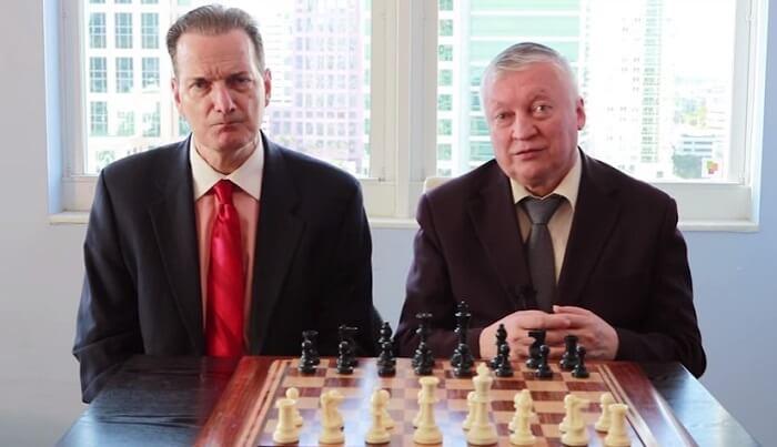Anatoly Karpov and Ron Henley